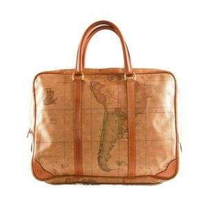 Alviero Martini Prima Classe world map soft briefc